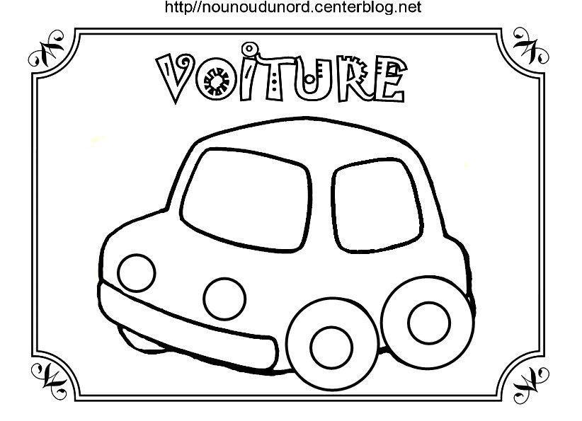 coloriage voiture dessin par nounoudunord. Black Bedroom Furniture Sets. Home Design Ideas