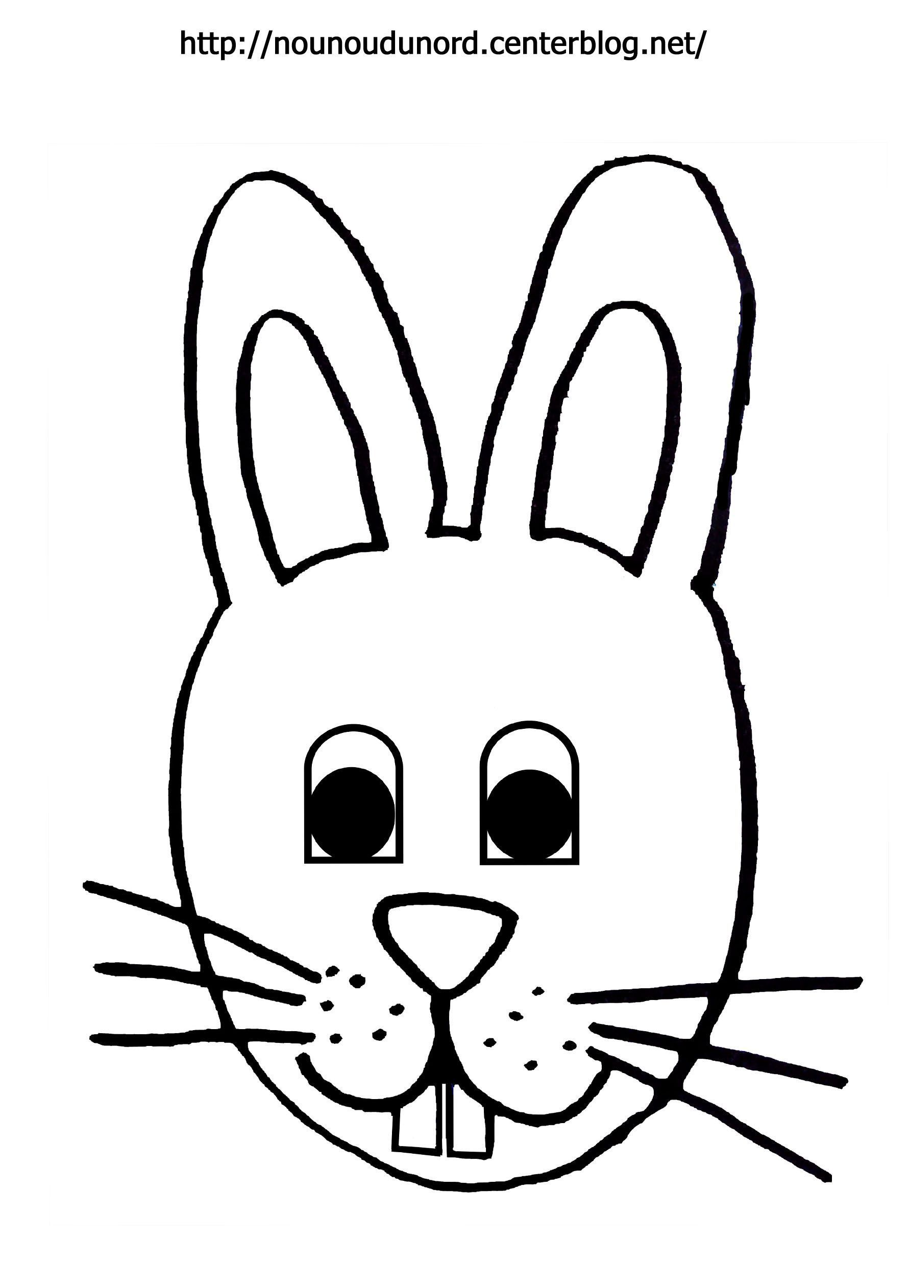 coloriage paques lapin