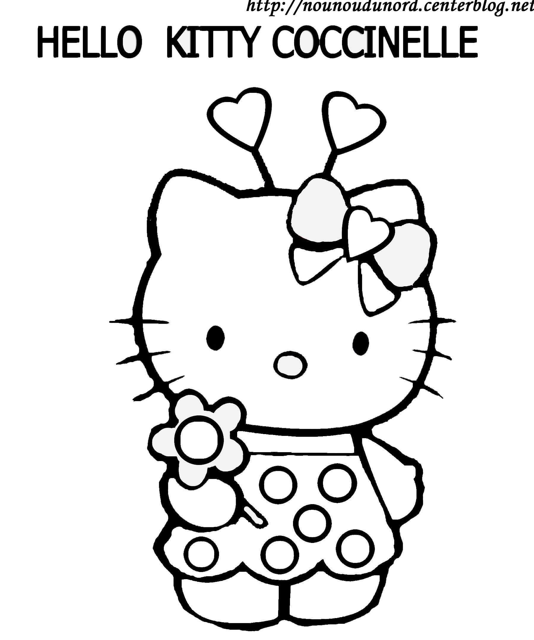 Beau Photo A Colorier Hello Kitty