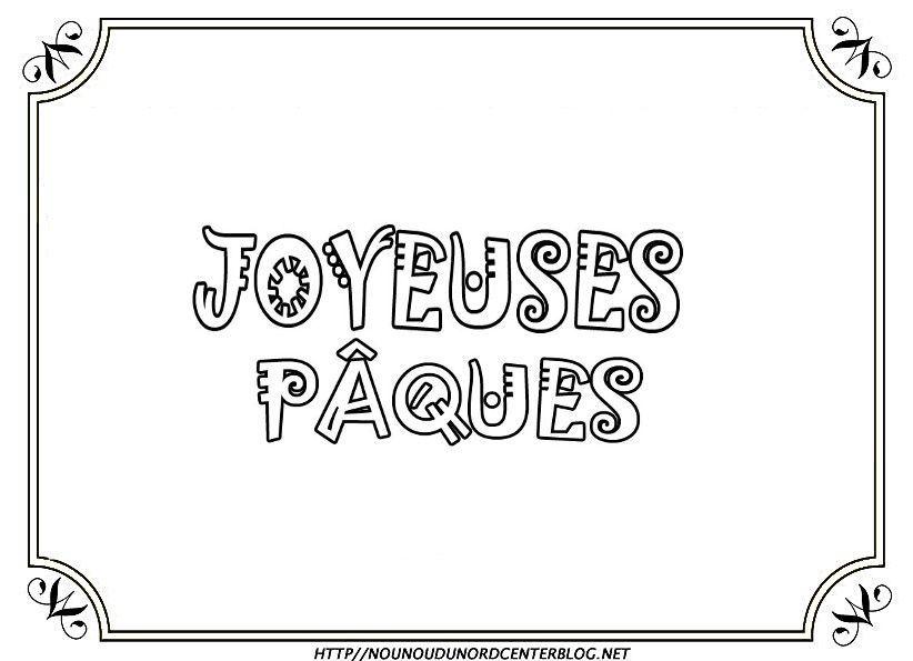 Ecriture Joyeuses Pâques Coloriagegommettescouleur