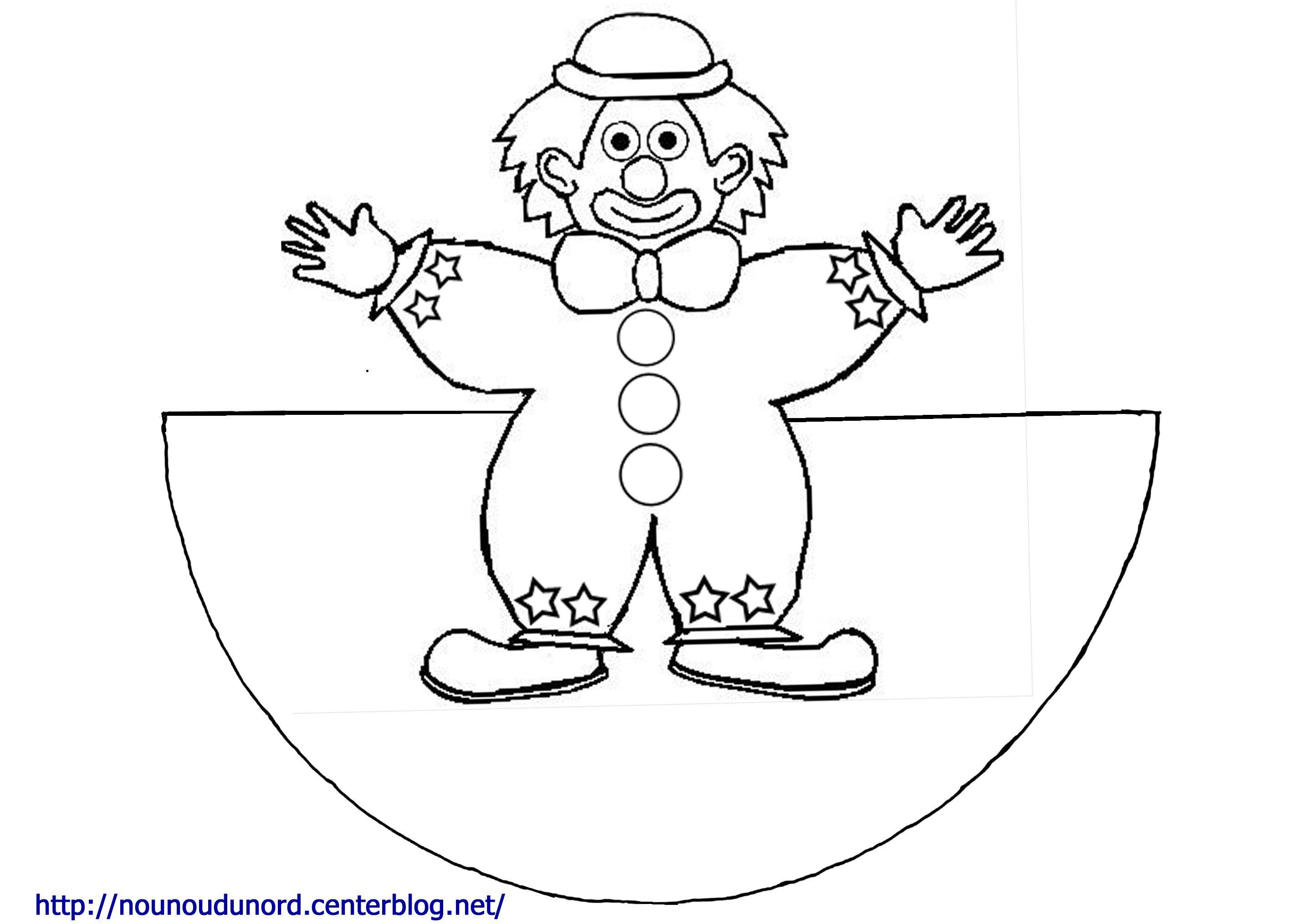 Coloriage clown - Coloriage bricolage ...