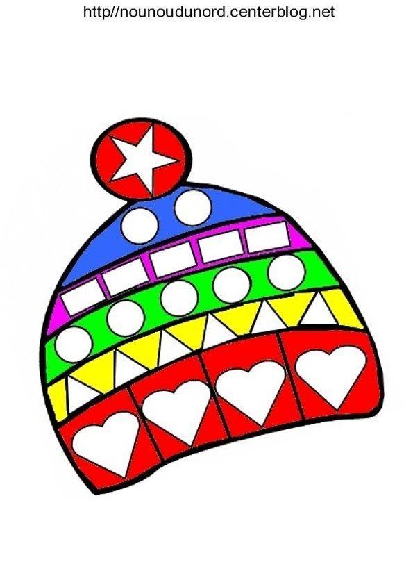 Coloriage bonnet - Dessin colore a imprimer ...