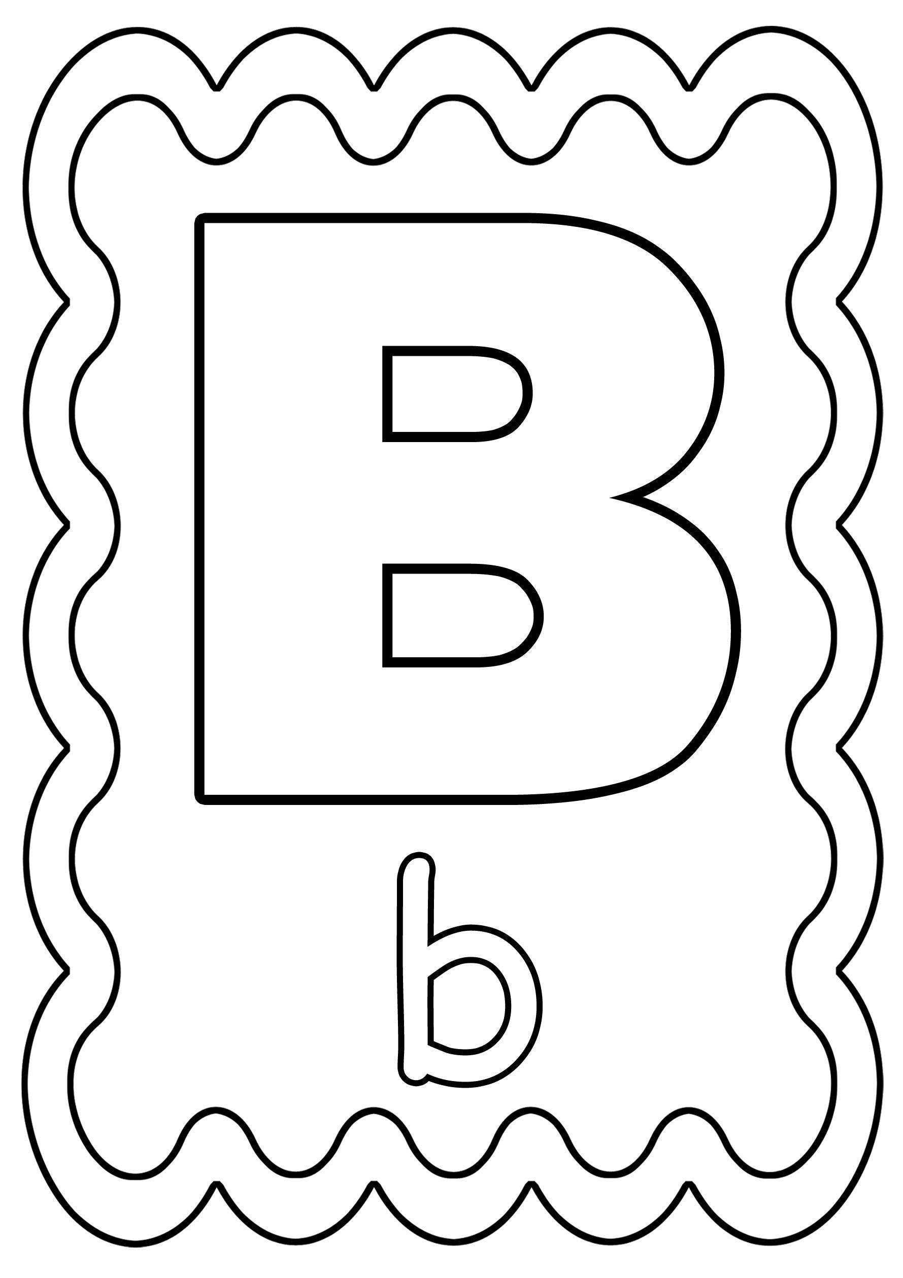 Coloriage lettre b colorier ou gommettes - Lettres a colorier ...