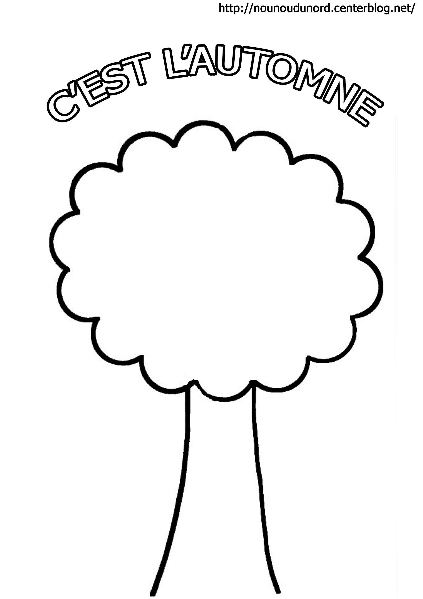 Coloriage l 39 arbre d 39 automne - Arbre automne dessin ...