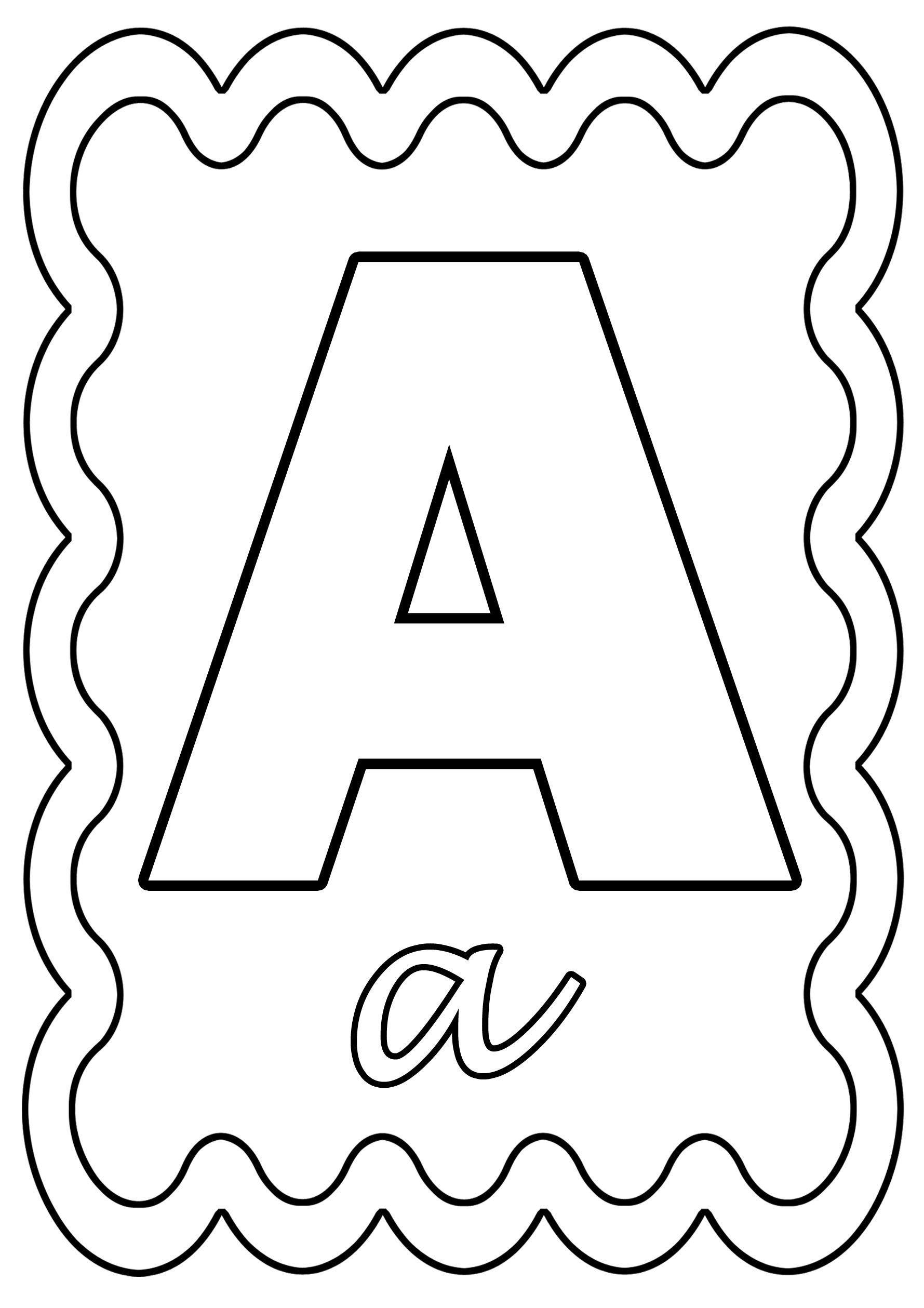 Coloriage alphabet lettre de a a z - Dessin lettre a ...