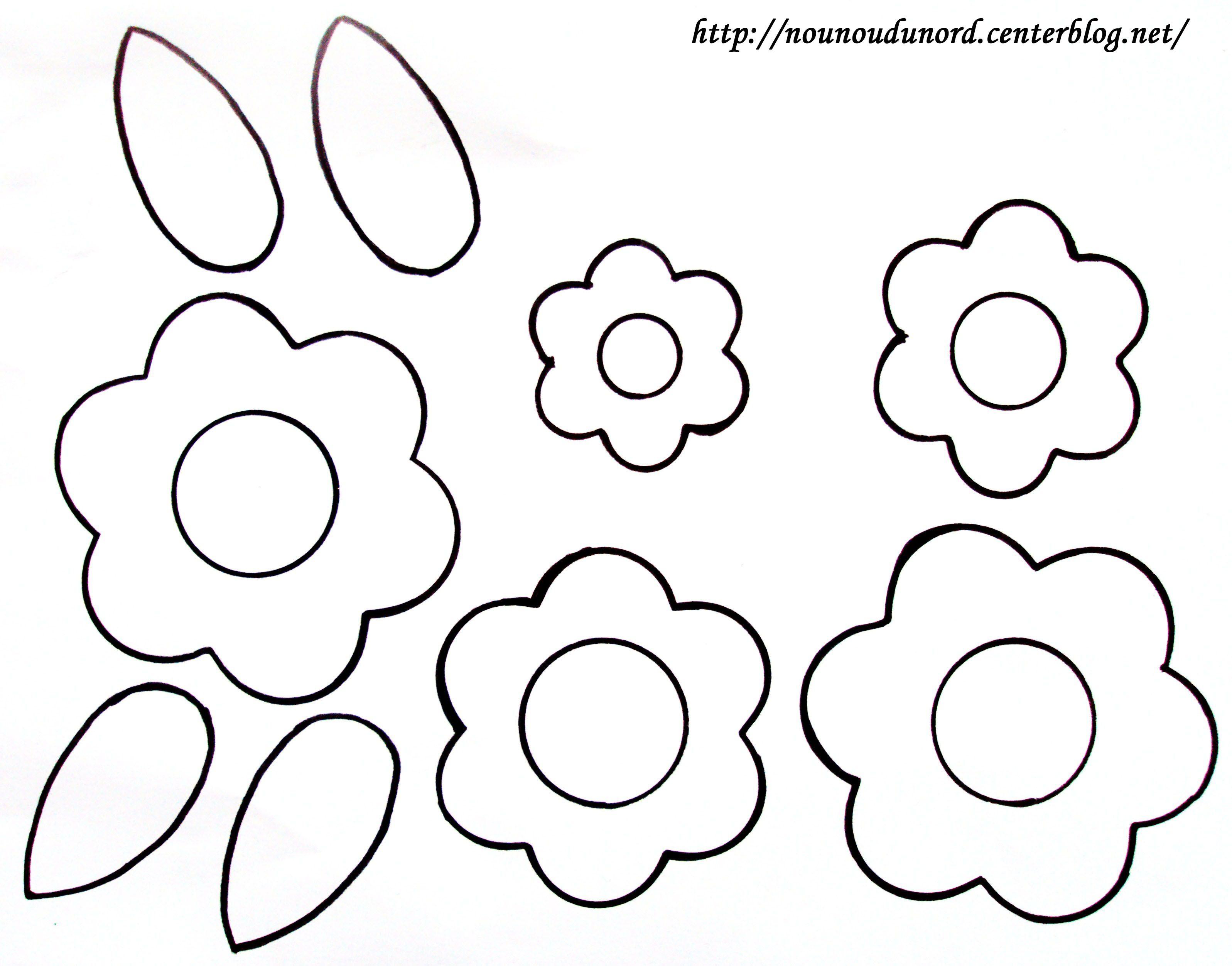 Coloriage fleurs pour r aliser un bouquet - Fleur simple dessin ...