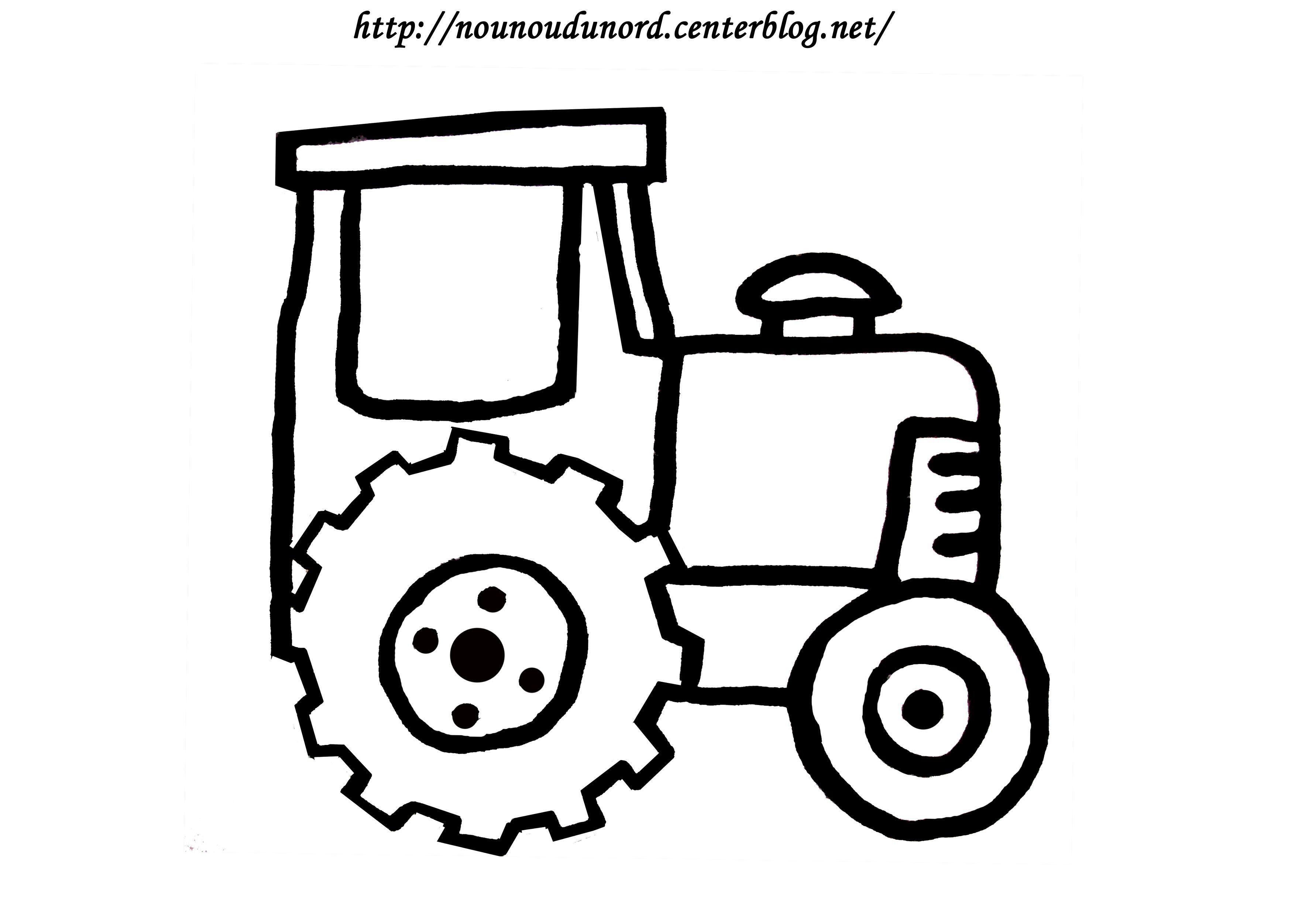 Coloriage tracteur réalisé par nounoudunord.