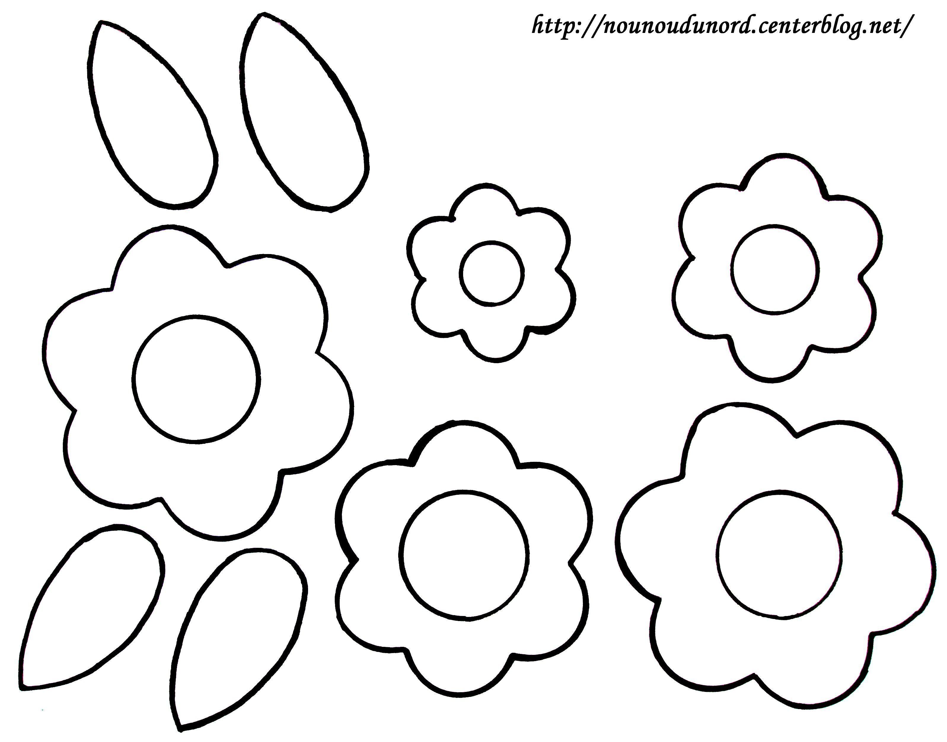 Fleurs et feuilles gabarit colorier - Fleurs a colorier ...
