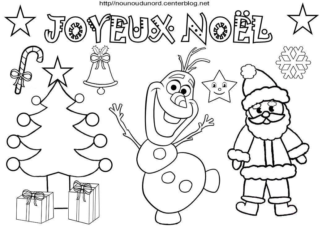 Coloriage Joyeux Noël Avec Les Heros Des Enfants