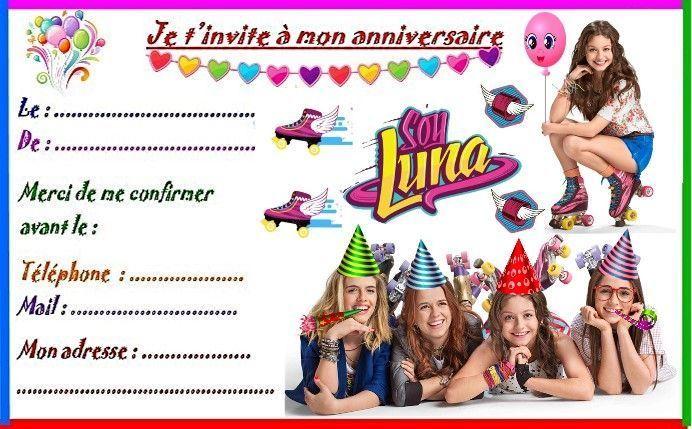 Etiquettes et invitations soy luna pour anniversaire - Dessin invitation ...