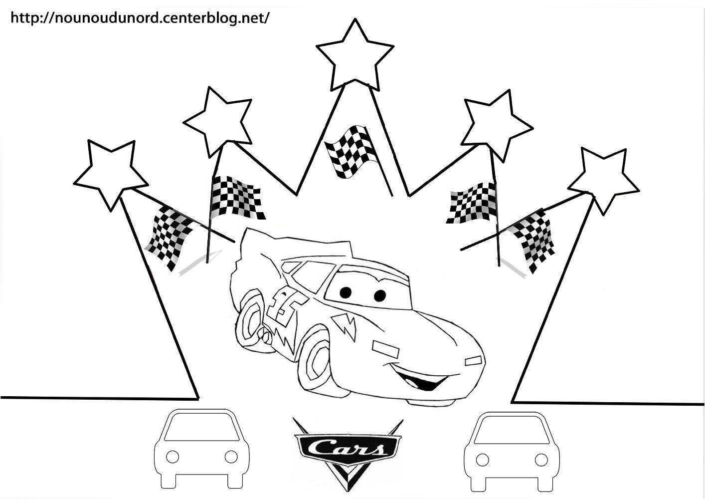 Coloriage galette des rois epiphanie - Coloriage la cars ...