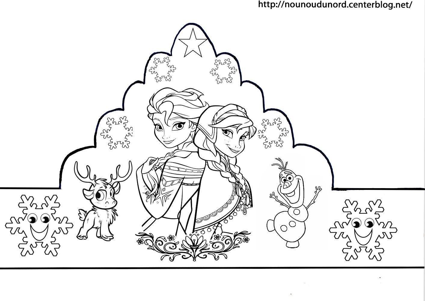 Coloriage galette des rois epiphanie - Reine des neige a imprimer ...