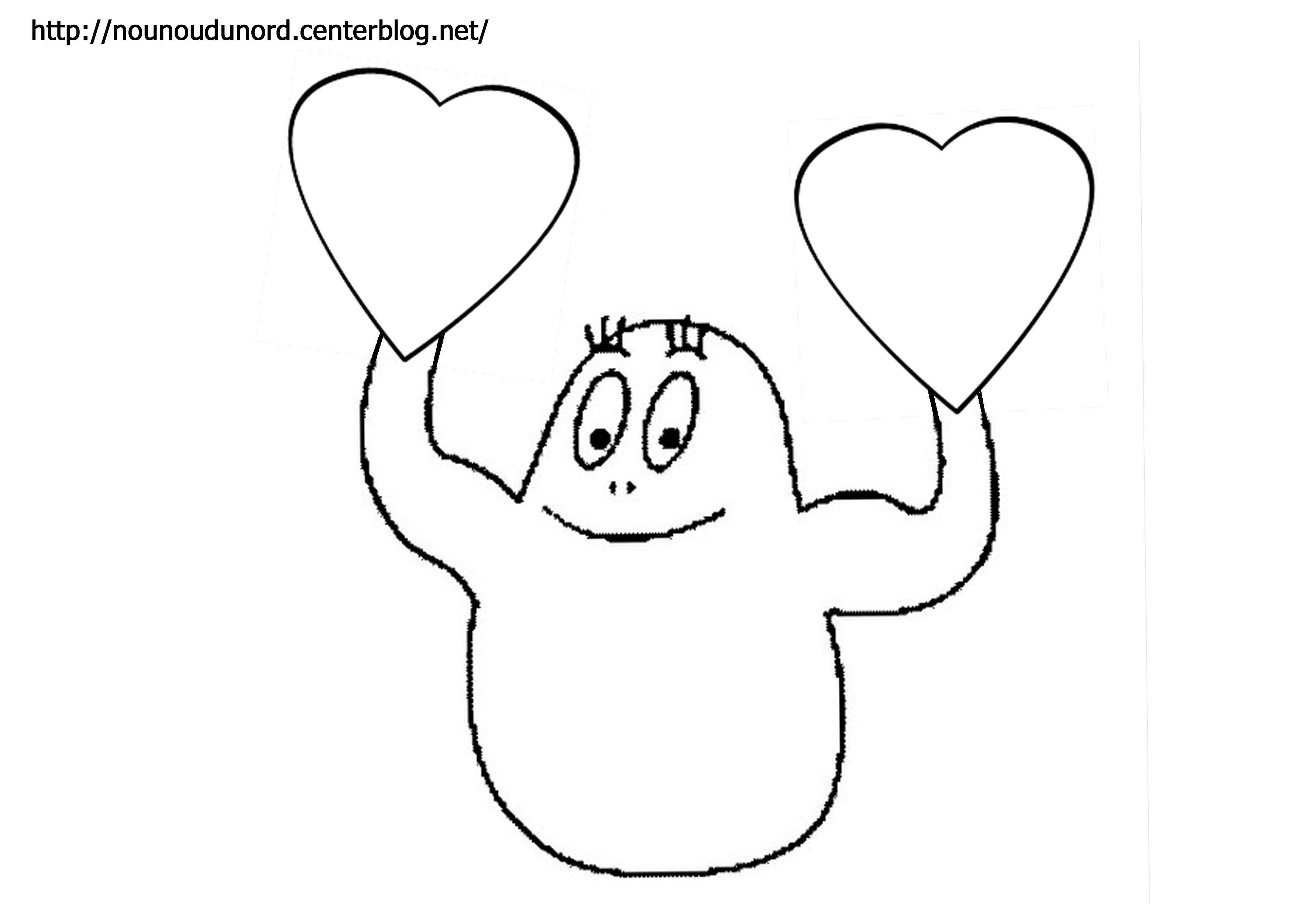Coloriage coeur barbapapa dessin par nounoudunord - Barbapapa dessin ...