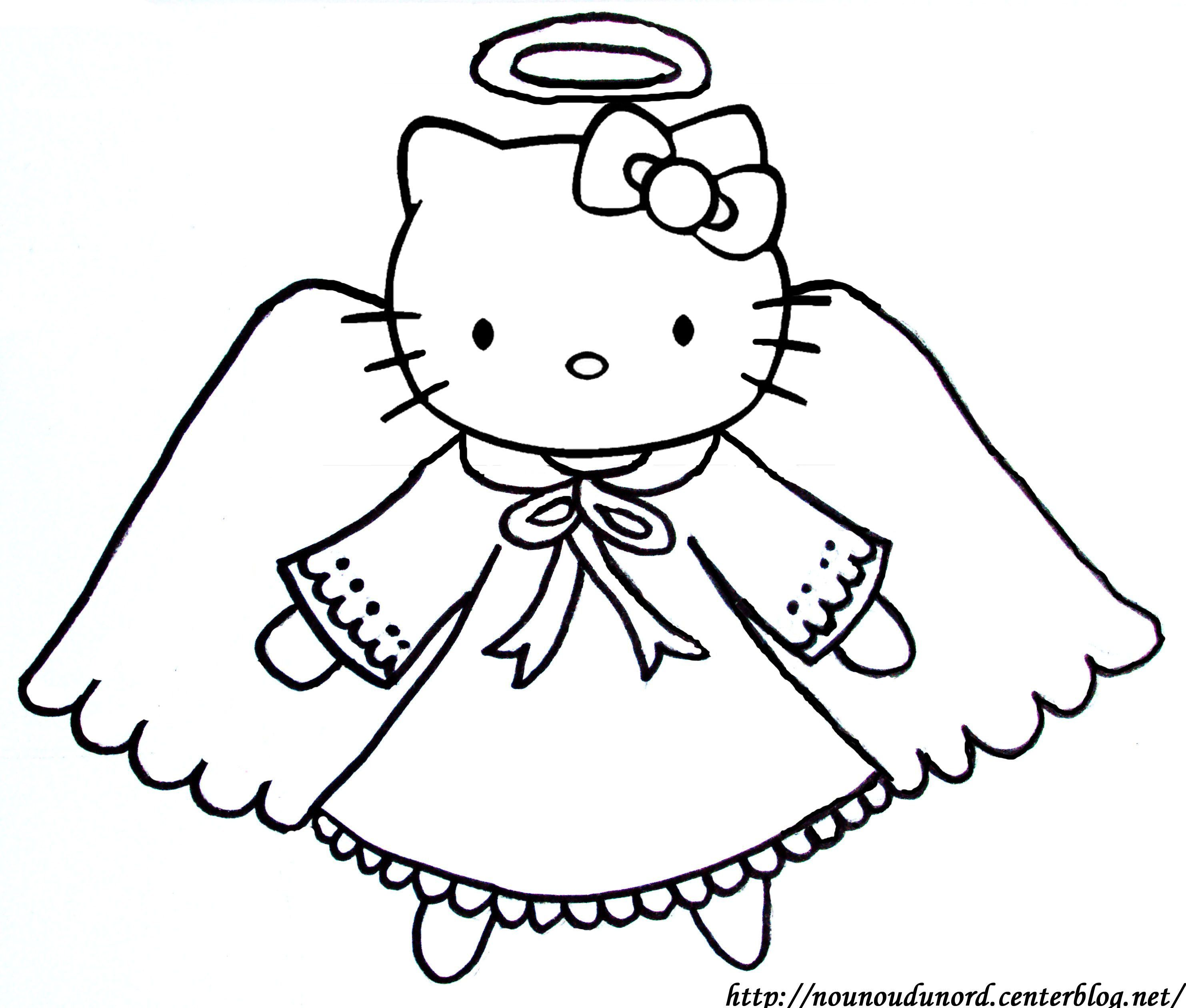 Coloriage hello kitty a imprimer - Coloriage ange ...