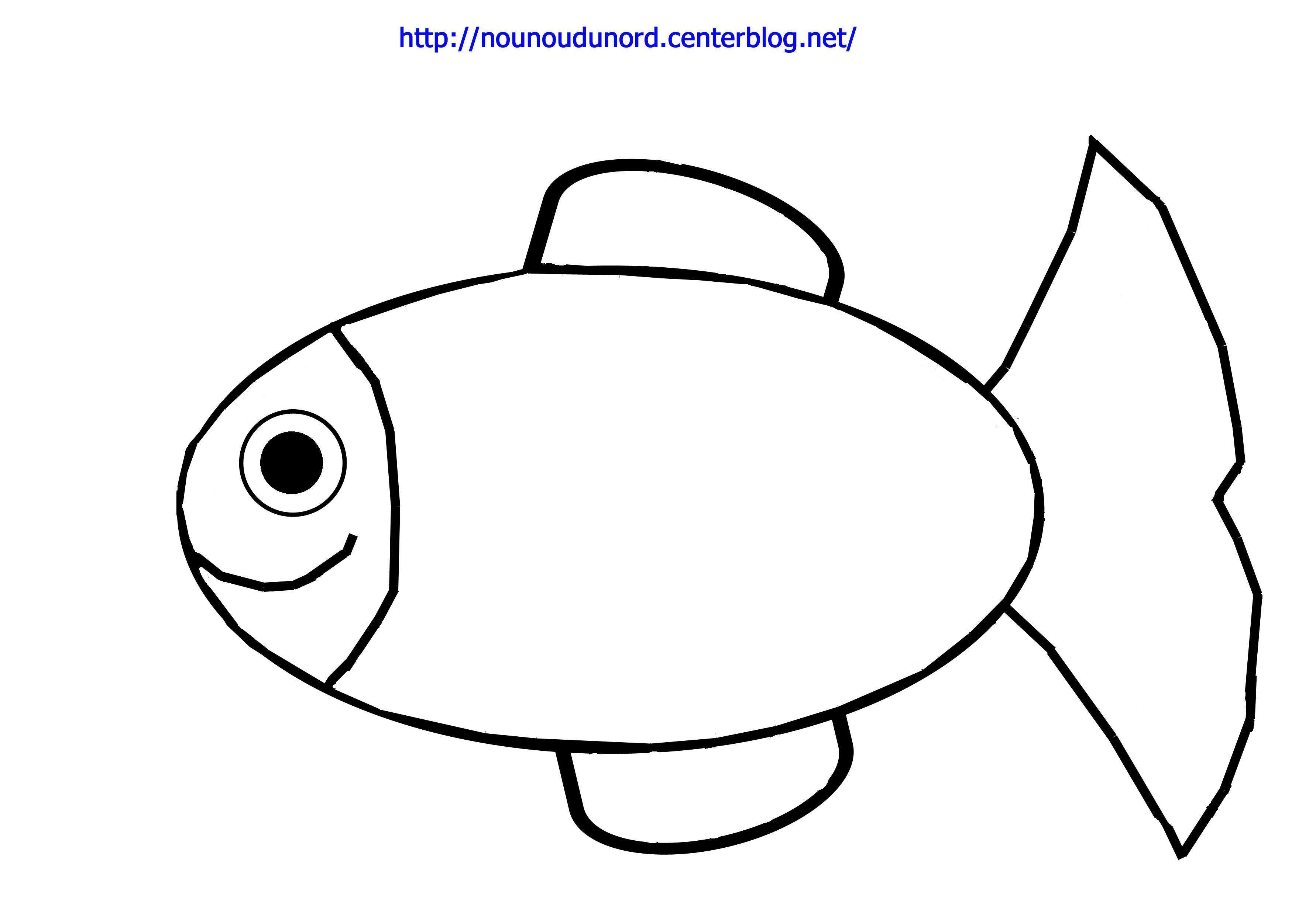 Coloriage poisson dessin par nounoudunord - Dessin poisson facile ...