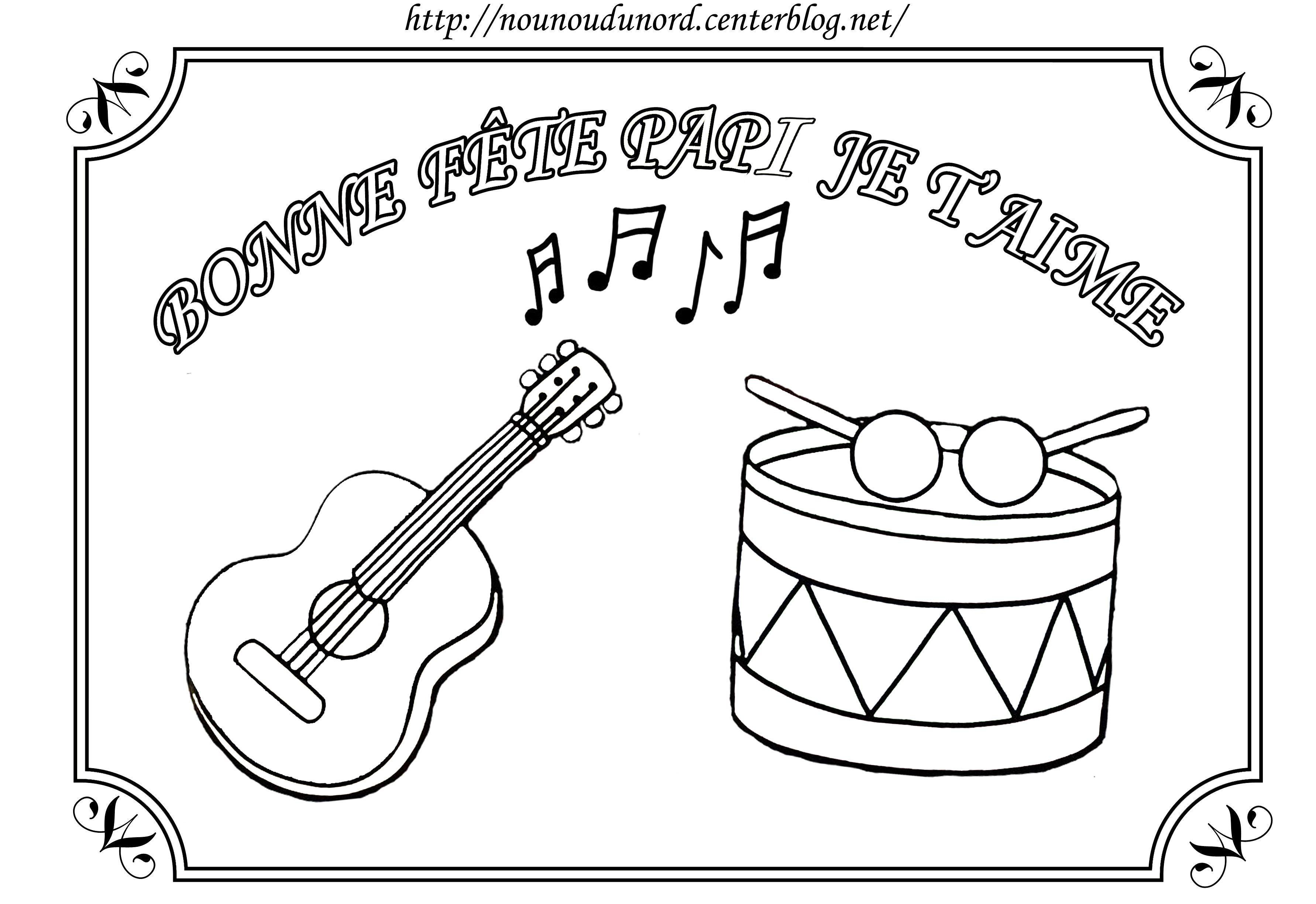 Coloriage fete des grand peres - Coloriage musique a imprimer ...