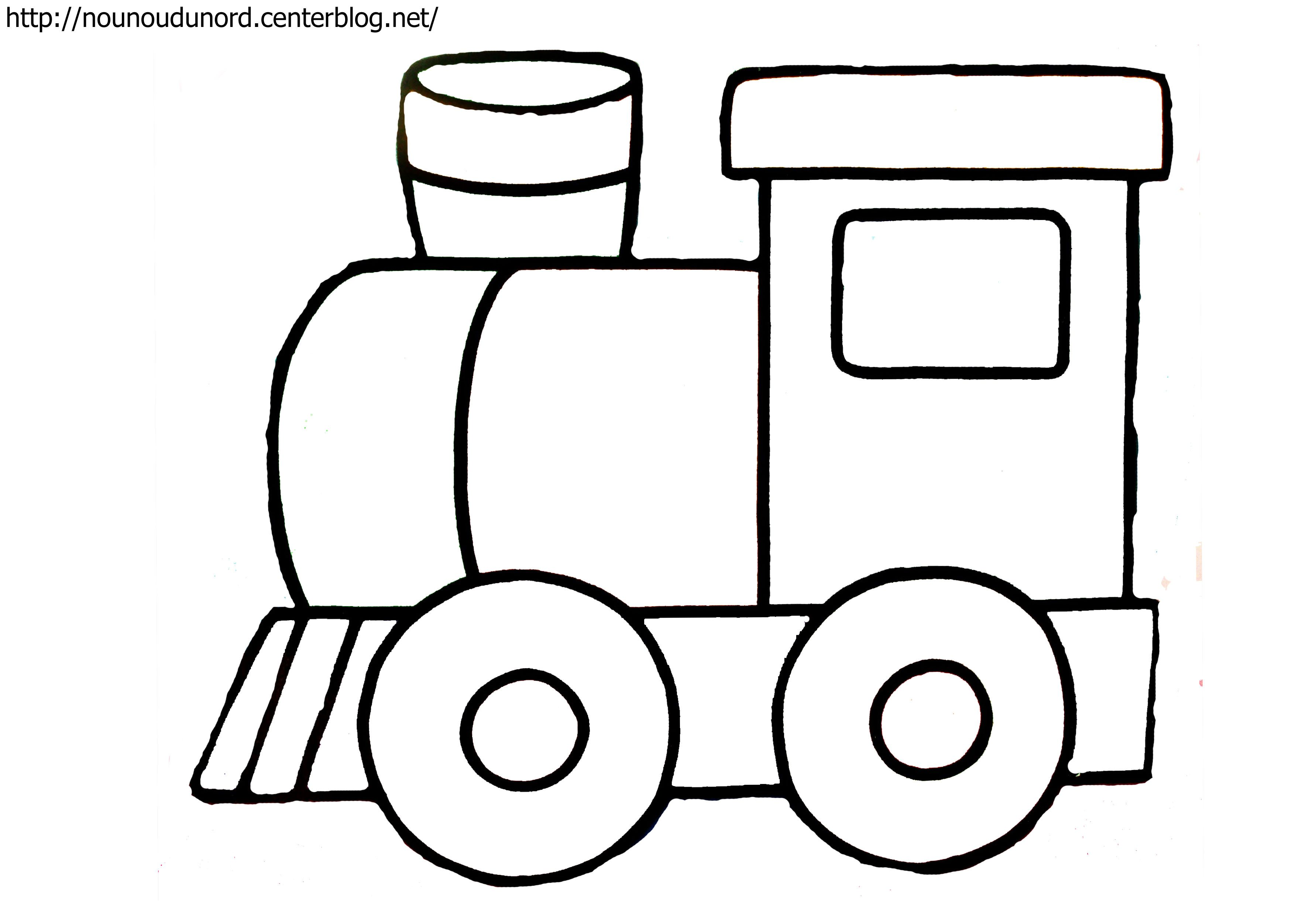 Coloriage train dessin par nounoudunord - Comment dessiner un train ...