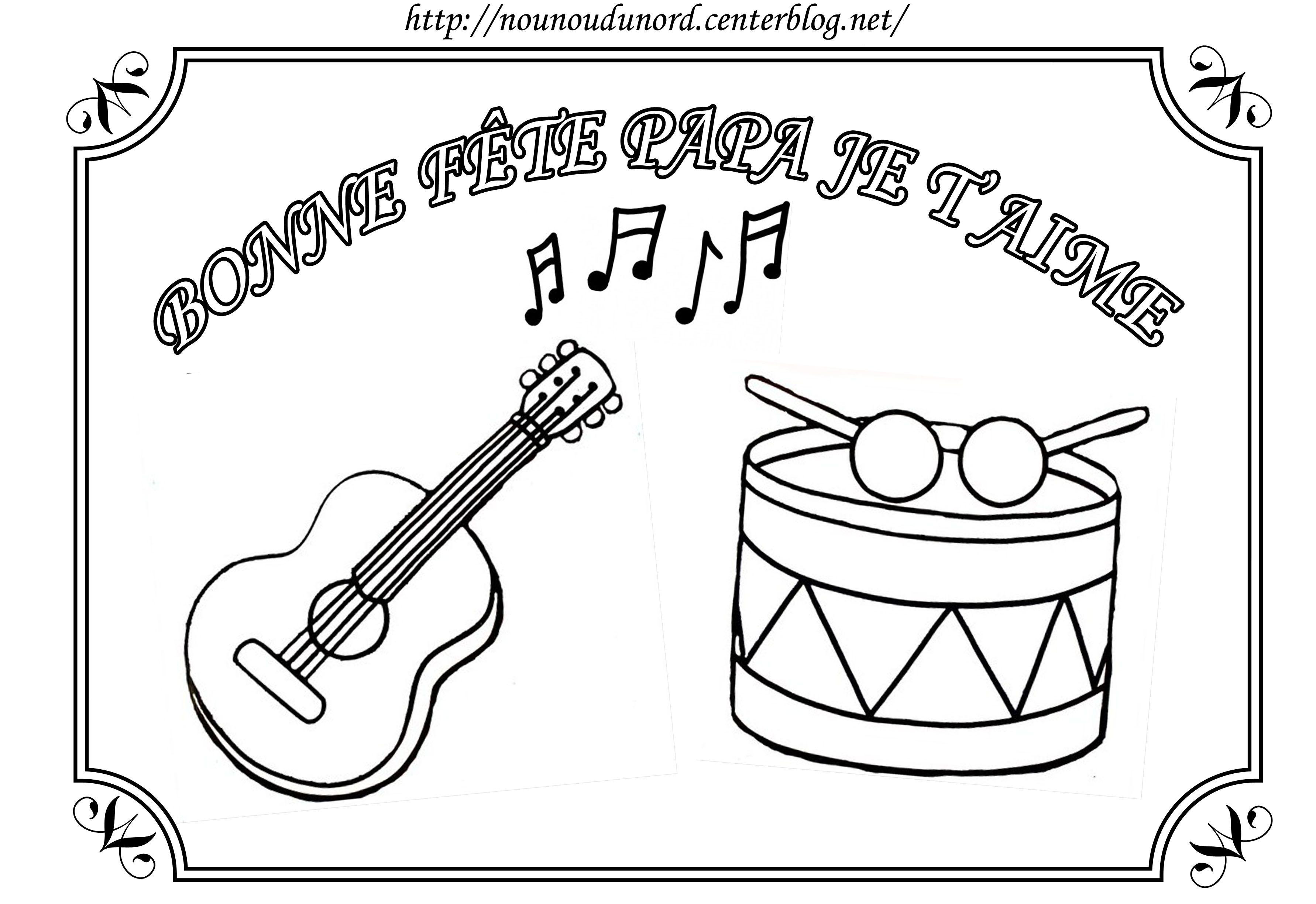 Coloriage Instruments De Musique Pour La Fête