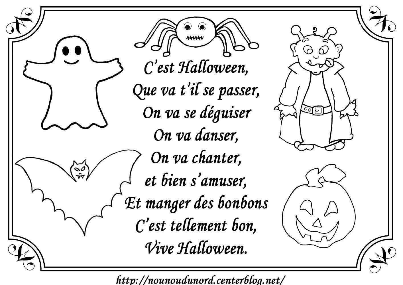 Poeme halloween - Coloriage anniversaire mamie ...