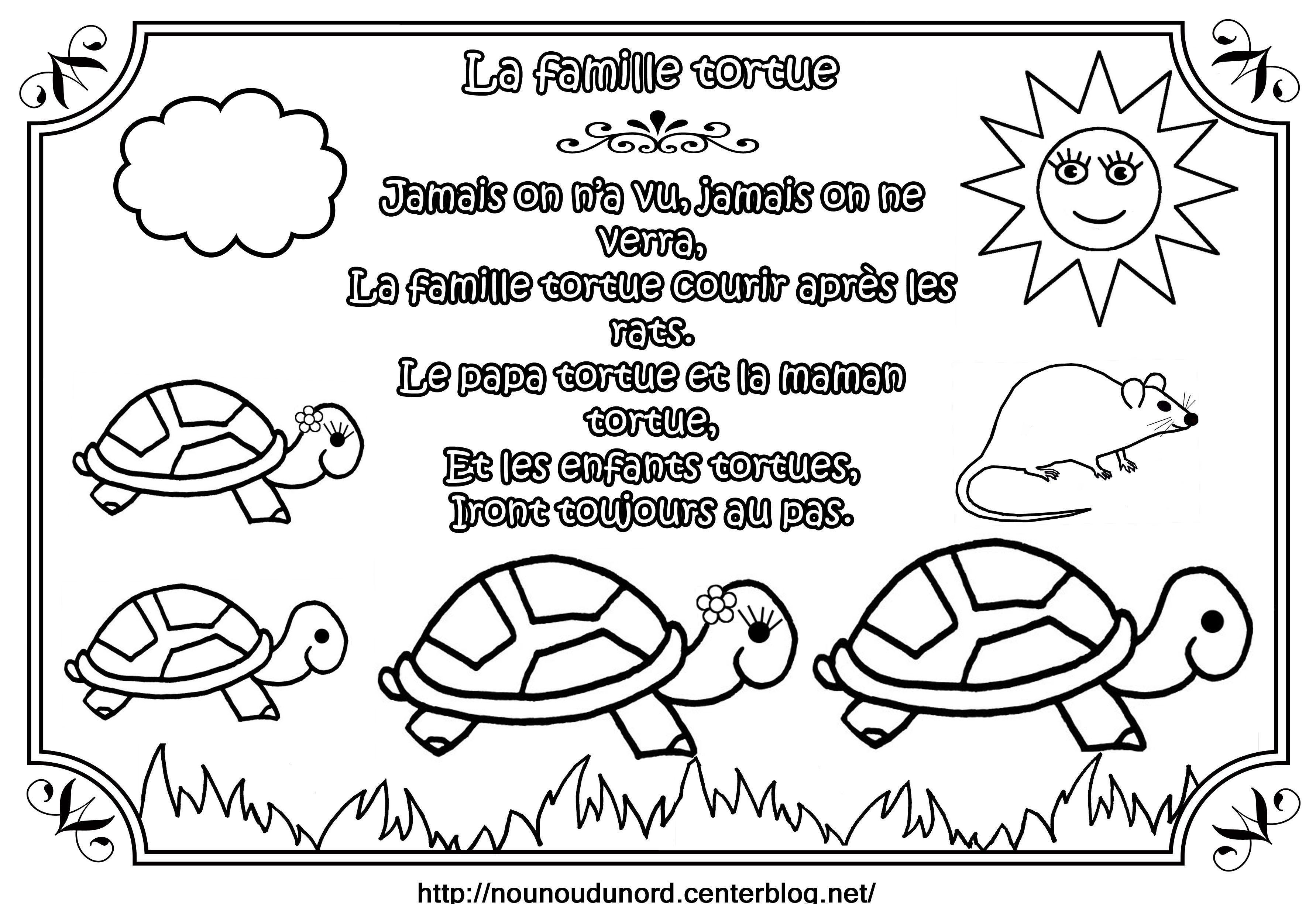 Comptine la famille tortue illustr e par nounoudunord for Par la fenetre ouverte comptine