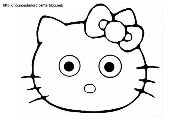 Coloriage Hello Kitty A Imprimer