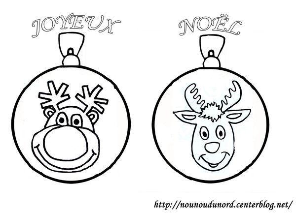 Coloriage boules de no l renne - Dessin boules de noel ...