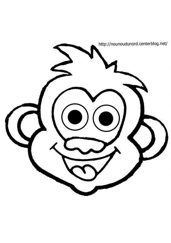 Coloriage animaux de la savane - Coloriage petit singe ...