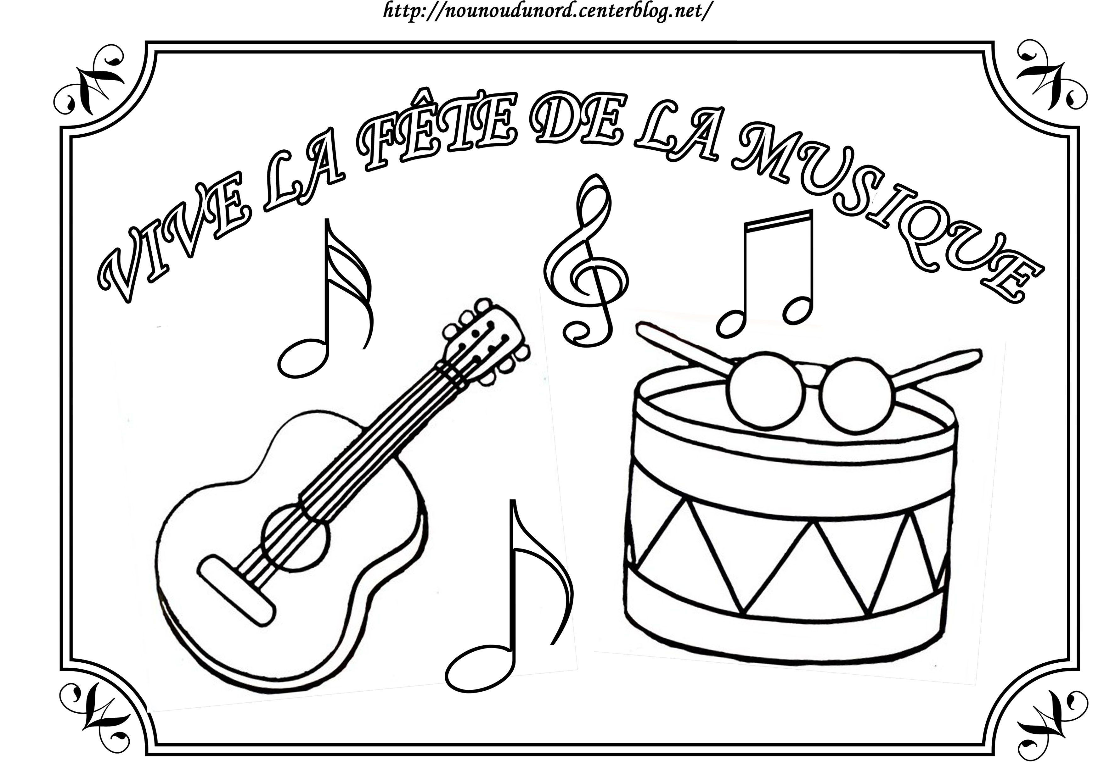 Coloriage fete de la musique - Musique coloriage ...