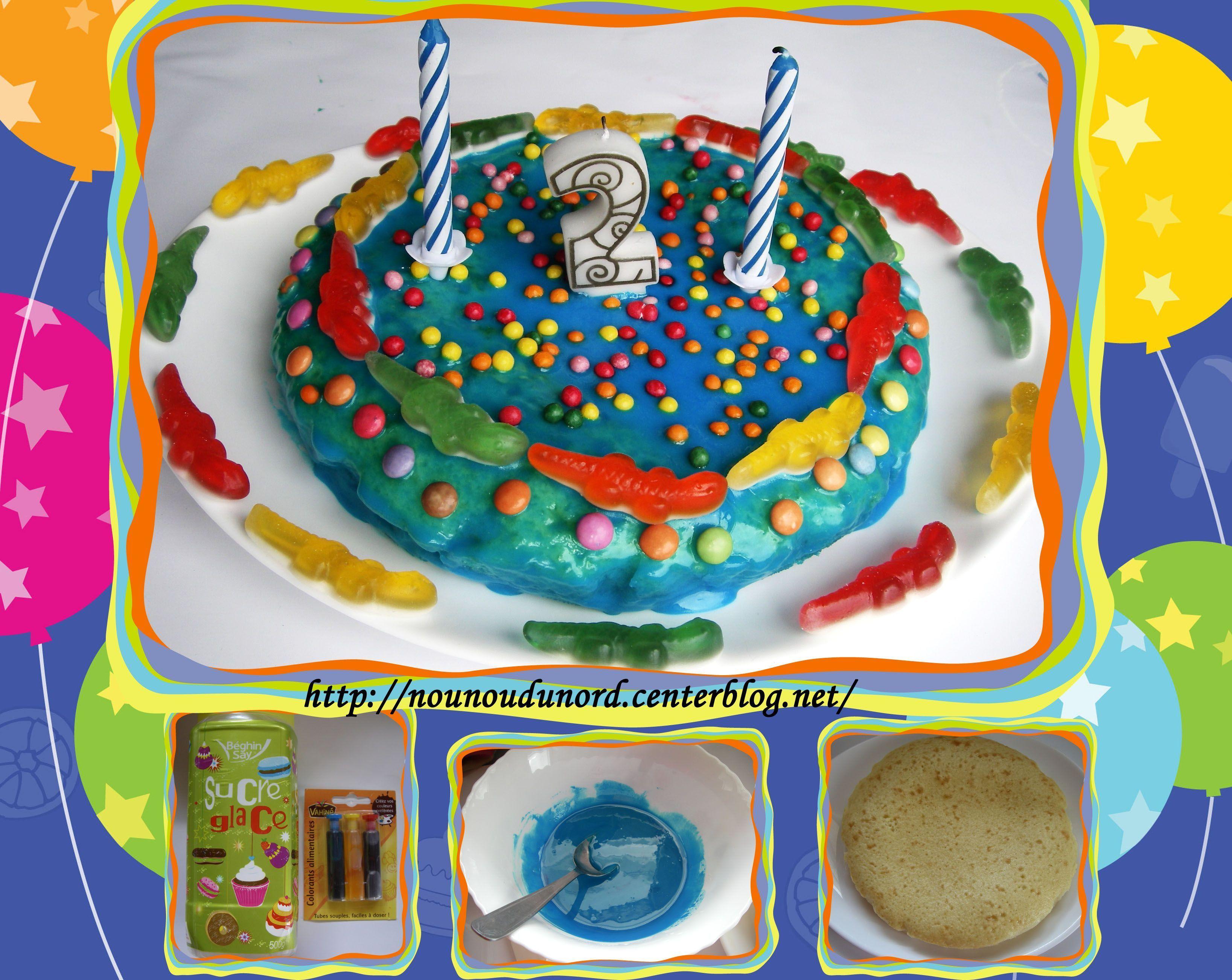 G teau d 39 anniversaire pour les 2 ans de gaspard juin 2012 - Gateau anniversaire 2 ans ...