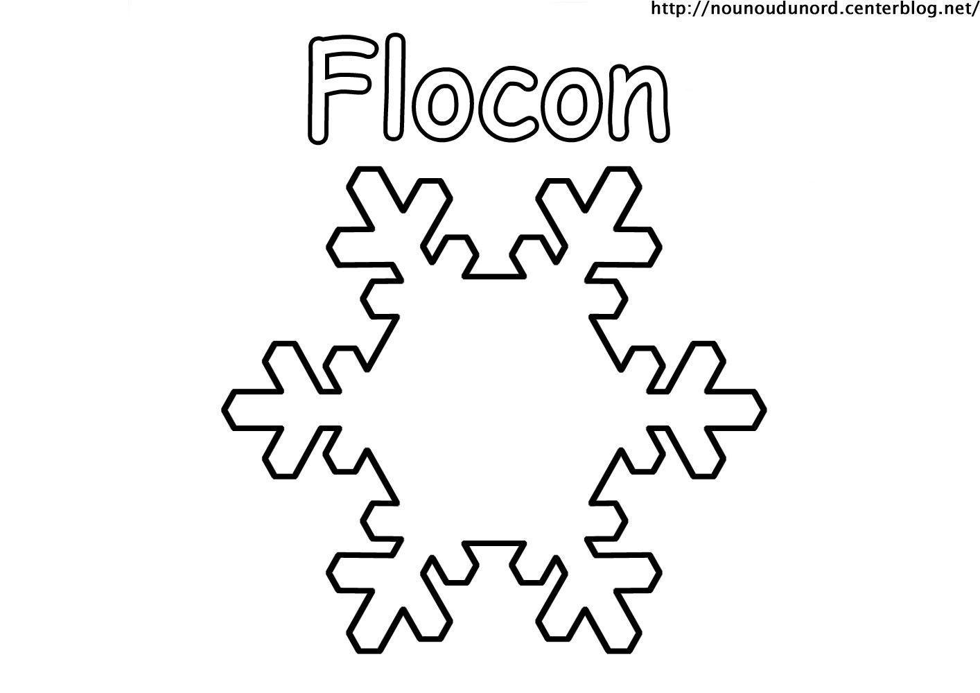 Coloriage flocon 2