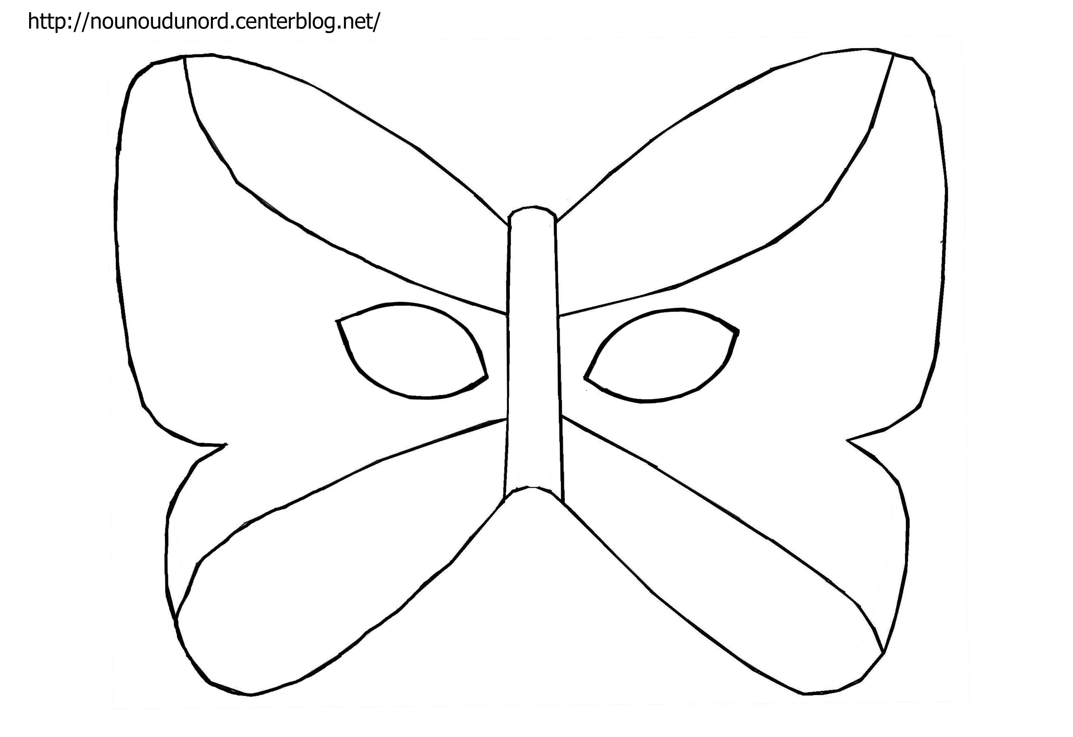 Masque papillon imprimer - Masque de carnaval a imprimer ...
