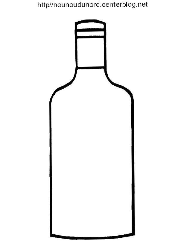 Dessin A Imprimer Bouteille De Vin coloriage bouteille