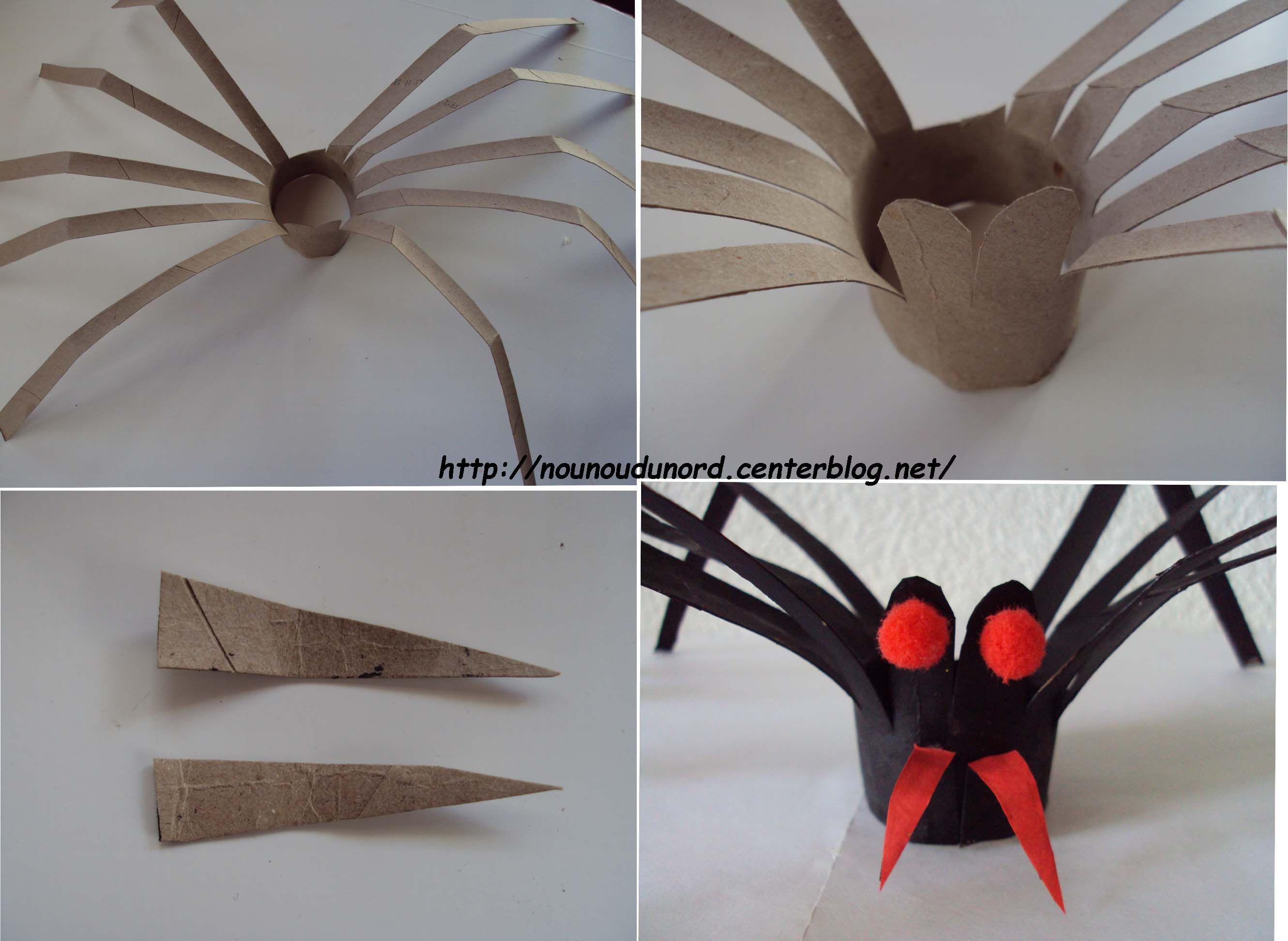 L 39 araign e r alis e avec un rouleau de sopalin 2010 - Creation avec rouleau papier toilette ...