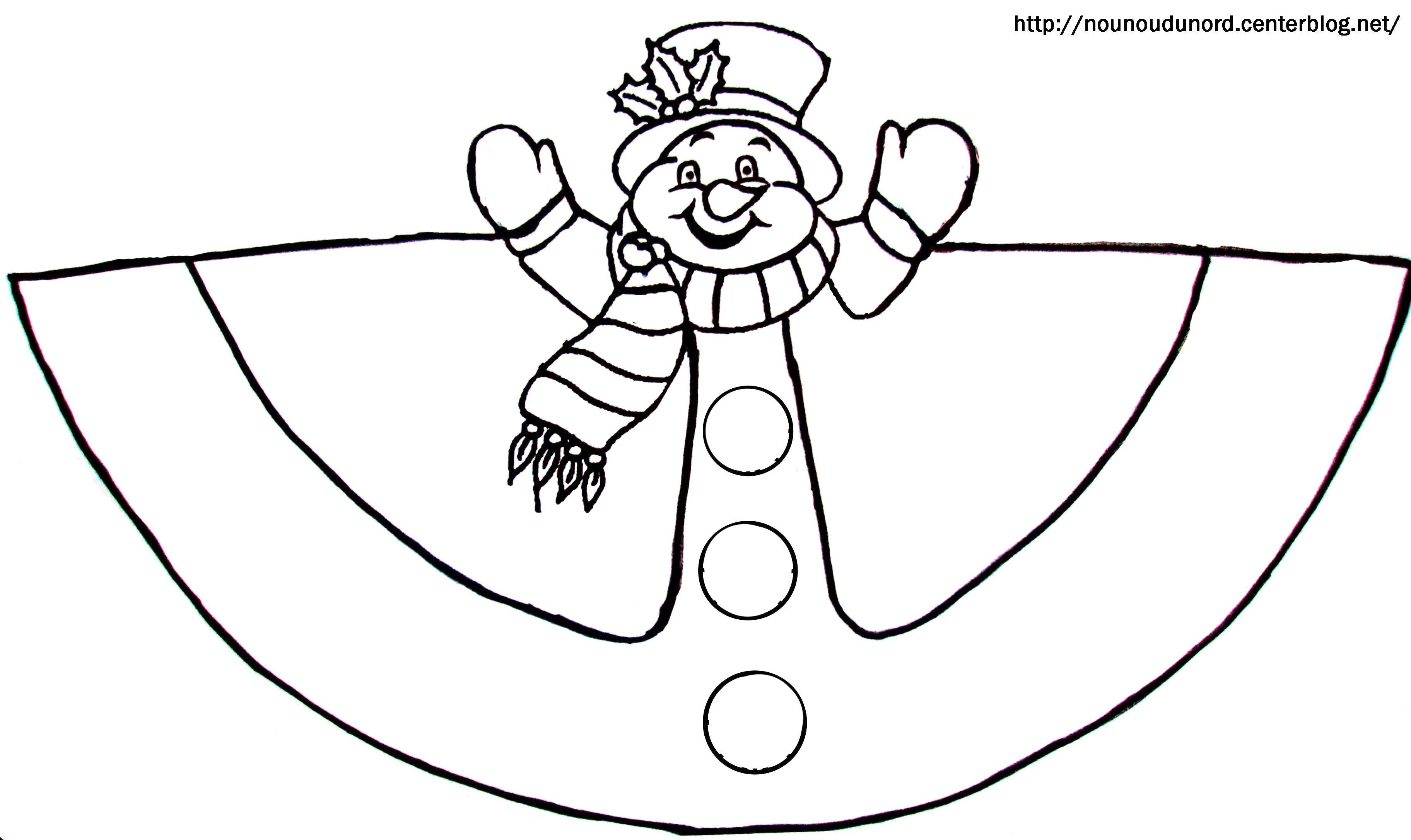 Cloriage c ne du bonhomme de neige - Bonhomme de neige a colorier ...