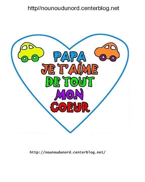 Coeurs à Message Pour La Fête Des Pères Et Papi