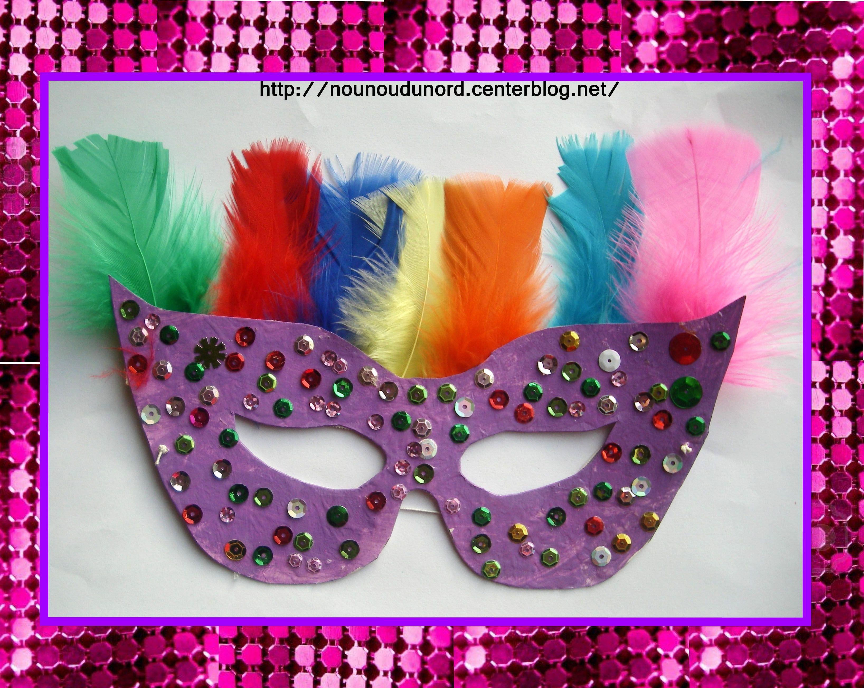 Masque loup violet paillettes et plumes f vrier 2013 - Masque loup a imprimer ...