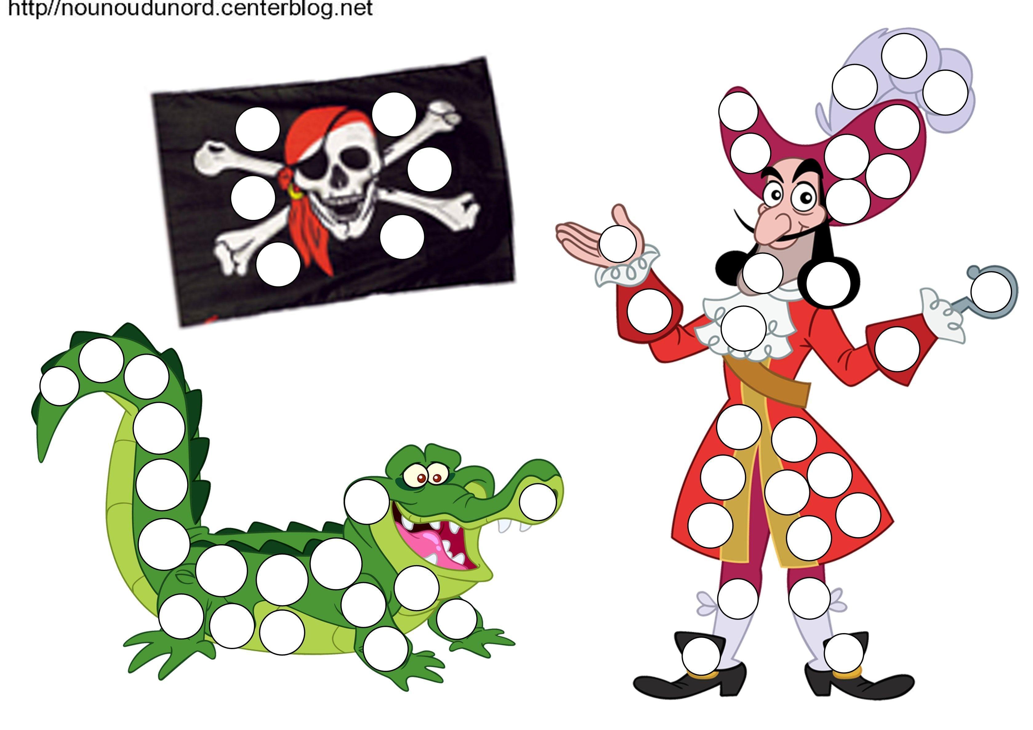 Jake et les pirates coloriage gommettes - Coloriage mini loup et les pirates ...
