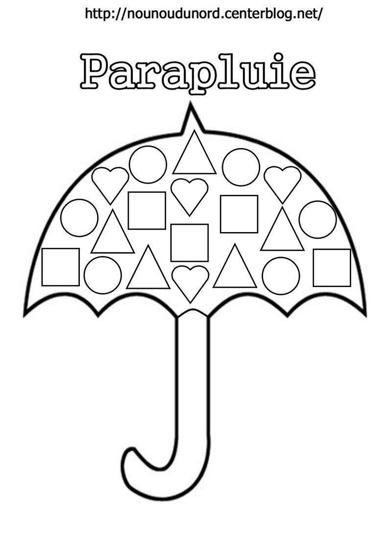 Coloriage parapluie - Coloriage des formes ...