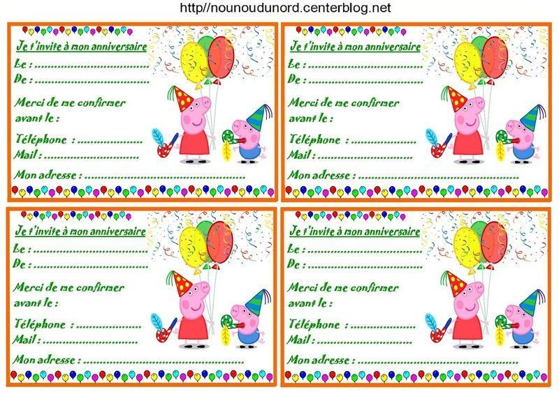 Peppa Pig Birthday Invitation for good invitations layout