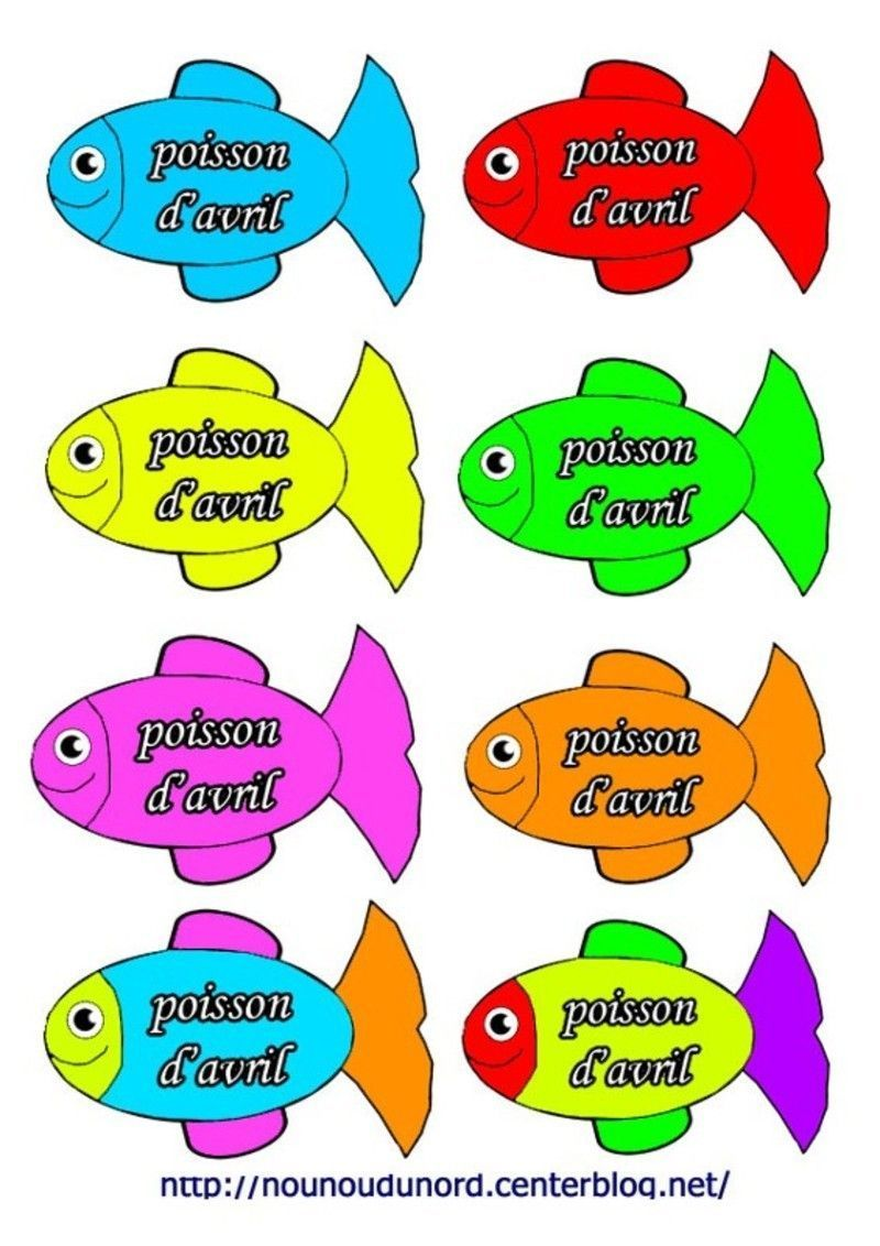 Coloriage poisson avril - Images poissons d avril ...