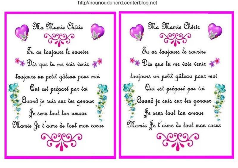 Poème Pour La Fête Des Mamies écrit Par Nounoudunord
