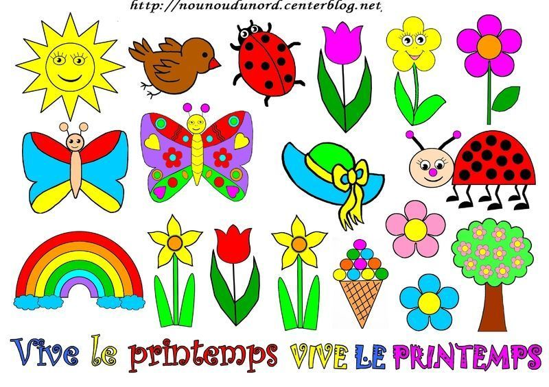 Printemps colorier gommettes et en couleur - Couleur du printemps ...