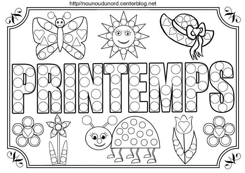 Coloriage printemps - Coloriage saisons a imprimer ...