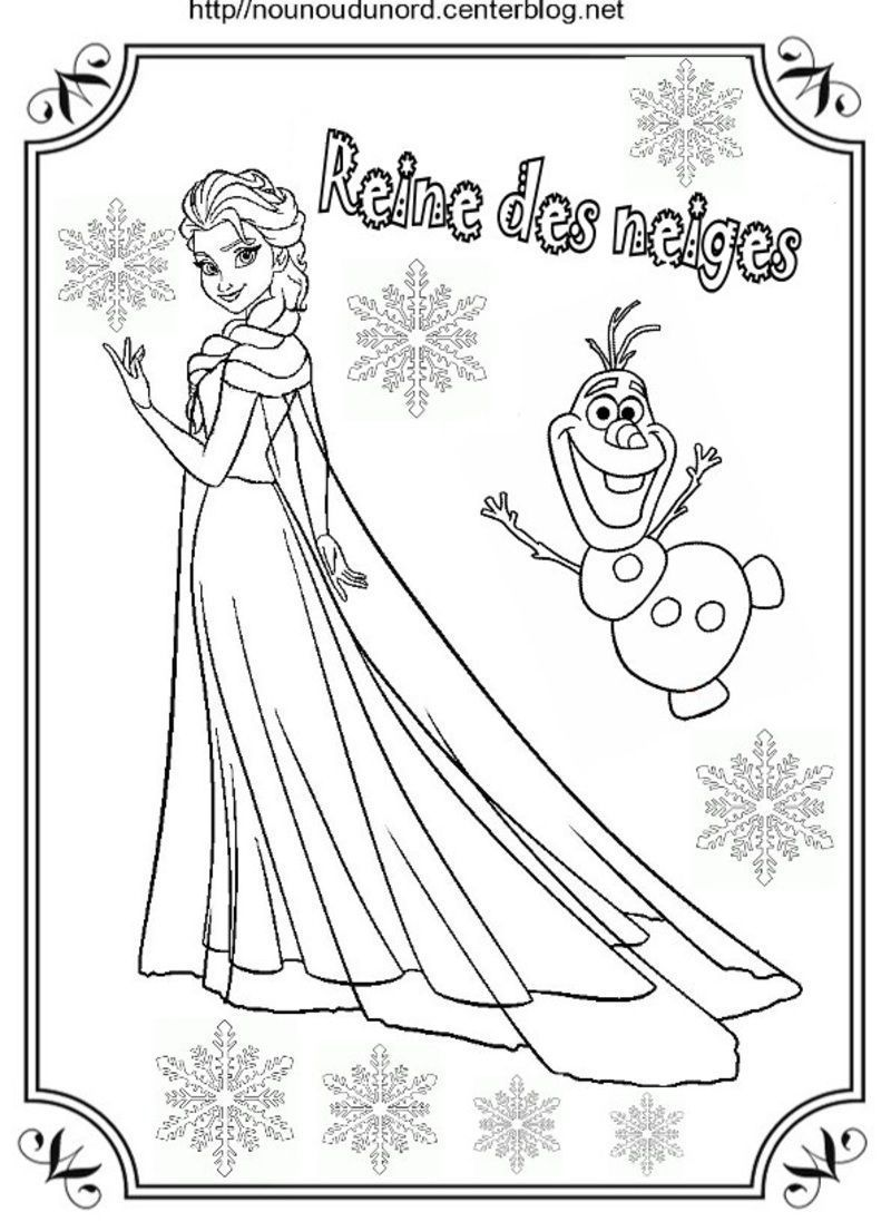 Coloriage reine des neiges - Coloriage de frozen ...
