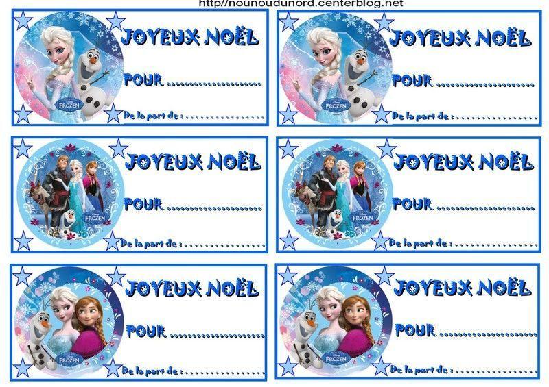 Etiquettes cadeaux no l reine des neiges ours brun peppa pig - Etiquettes pour cadeaux de noel a imprimer ...