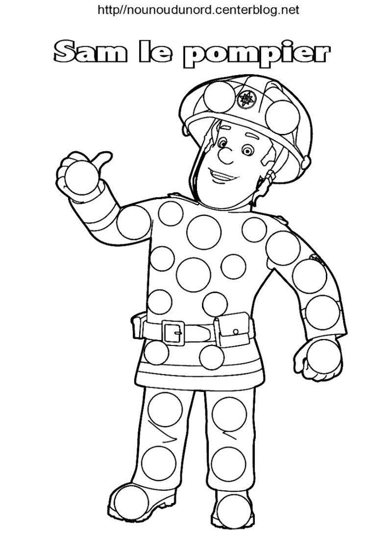 Sam le pompier coloriage - Sam le pompier dessin anime en francais ...
