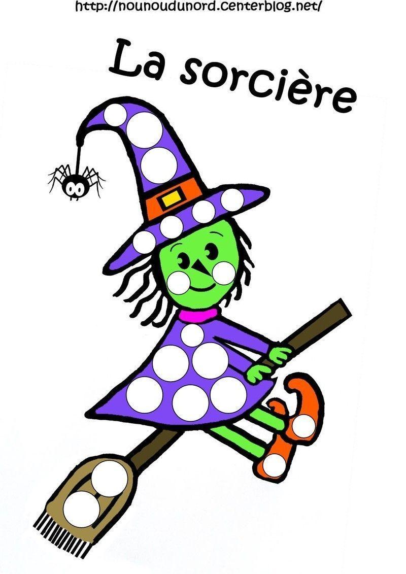 Coloriage Halloween Sorciere