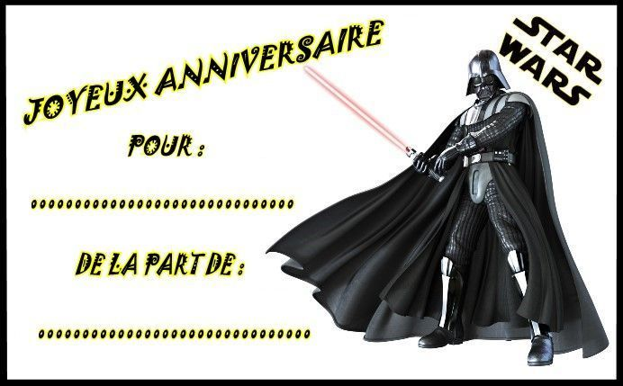 etiquettes invitations star wars pour anniversaire. Black Bedroom Furniture Sets. Home Design Ideas