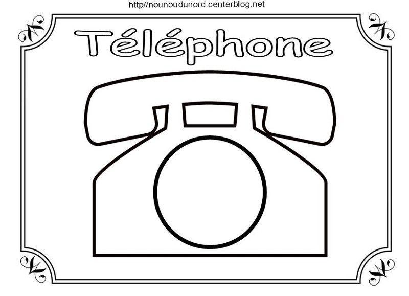 Coloriage Telephone