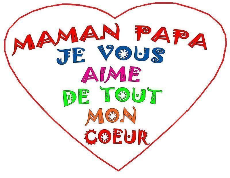 Message dans le coeur pour maman papa mamie papi - Poeme de noel pour maman et papa ...